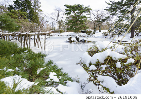 秋田的雪域景观与千秋公园胡菲克女神日本花园的味道 26191008