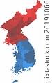 Circle shape North and South Korea map. 26191066