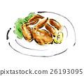 雞翅 插圖 食物 26193095