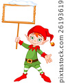 Christmas Elf with Sign 26193619