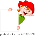 Christmas Elf Holds Sign 26193620