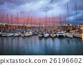 Port Vell Marina at Twilight in Barcelona 26196602