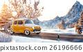 Cute little retro car 26196666