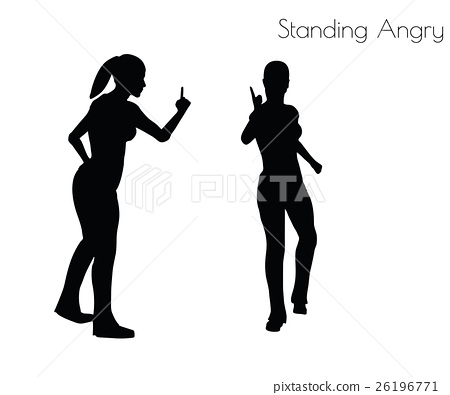 woman in Standing Angry pose 26196771