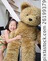 熊毛絨動物和女孩 26199379