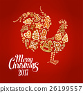 christmas, rooster, gingerbread 26199557
