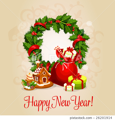 Happy new year greeting card or poster design stock illustration happy new year greeting card or poster design m4hsunfo