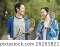運動 網球 夫婦 26203821