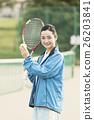 運動 網球 女性 26203841