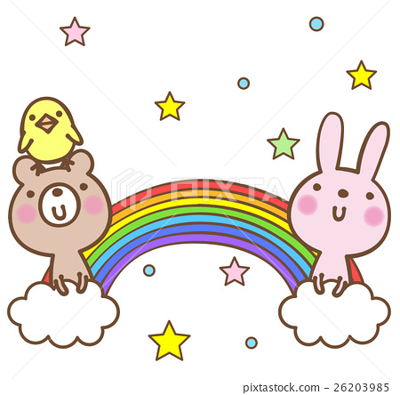 彩虹和動物 26203985