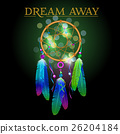 Vector illustration of dream catcher, native 26204184