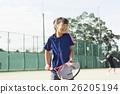 테니스, 스포츠, 여자아이 26205194