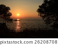 lake biwa, evening scene, twilight 26208708