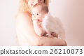 Portrait of mom with her baby angel 26210073