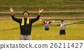 水稻收获肖像 26211427