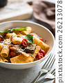 Rigatoni with Aubergine and Tomato 26213078