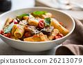 Rigatoni with Aubergine and Tomato 26213079