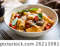 Rigatoni with Aubergine and Tomato 26213081