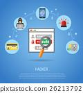 hacker, vector, cyber 26213792