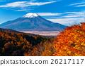 ภูเขาฟูจิในฤดูใบไม้ร่วง 26217117