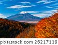ภูเขาฟูจิในฤดูใบไม้ร่วง 26217119