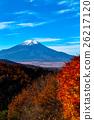 ภูเขาฟูจิในฤดูใบไม้ร่วง 26217120