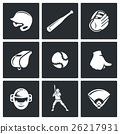 Baseball icons set. Vector Illustration. 26217931
