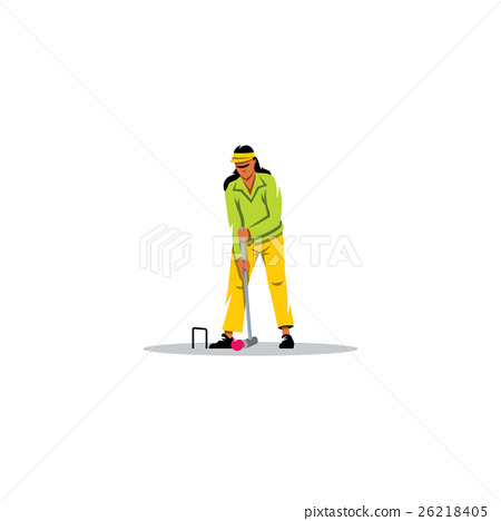 Croquet Game sign. Vector Illustration. 26218405