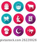 Ramadan icons set. Vector Illustration. 26220026