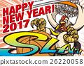 新年賀卡 賀年片 雞年 26220058