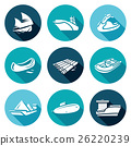 Water transport icons set. Vector Illustration. 26220239
