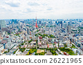 View from above on Tokyo Tower with skyline in 26221965