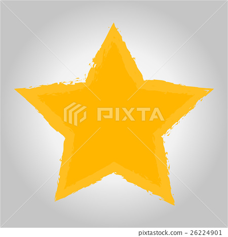 Vector of Gold Star icon on gray background 26224901