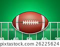 Poster Template of American Football Ball 26225624
