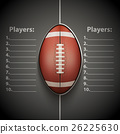 Poster Template of American Football Ball 26225630