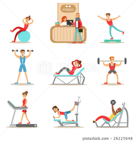 People Member Of The Fitness Class Working Out 26225648