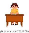 책상, 여성, 여자 26225779