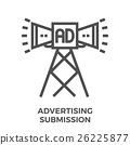 Advertising submission icon 26225877