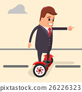 Vector illustration. Businessman riding on a 26226323