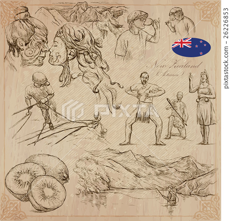 New Zealand. Pictures of Life. Vector pack. 26226853