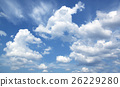 Blue sky white clouds Abstract nature 26229280
