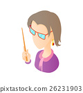 Museum guide icon, cartoon style 26231903