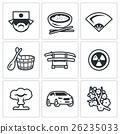 Vector Set of Japan Icons. 26235033