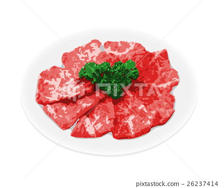 Beef galbi meat 26237414