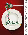 Vector of christmas menu design 26239948