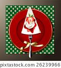 Vector of christmas cake 26239966