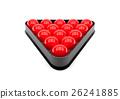 3D Illustration Snooker ball on white background. 26241885