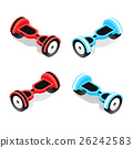 gyroscooter set vector 26242583