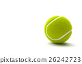Tennis ball with copy space isolated on a white ba 26242723