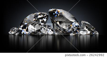 Diamonds on a Black Background 26242992